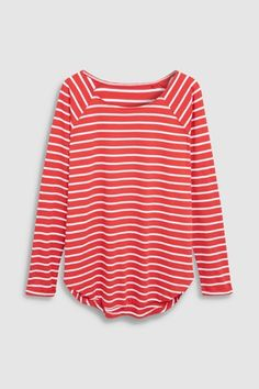 Buy Navy/White Stripe Longline Top from the Next UK online shop Red And White Stripes, Navy Stripes, Navy And White, Stripe Top, Clothes 2019, Summer Tops, Casual Outfits, Casual Clothes, Going Out