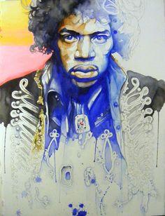 """Jimi"" See more artwork by James Gayles by subscribing on Ziibra at http://www.ziibra.com/james-gayles/"