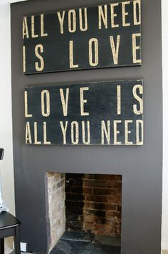 """""""All You Need is Love"""" wall hangings. How hard could they be to make?"""