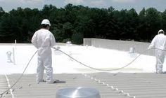 Commercial Painting Services handles Metal Roof Coatings and Repairs in Detroit, Michigan with our extensive commercial roof coating experience. Years of weather abus Metal Roof Repair, Roof Leak Repair, Metal Roof Coating, Foam Roofing, Roof Restoration, Roof Cleaning, Commercial Roofing, Painting Contractors, Painting Services