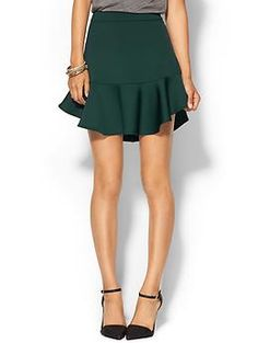 Piperlime Collection Neoprene Flounce Skirt | Piperlime