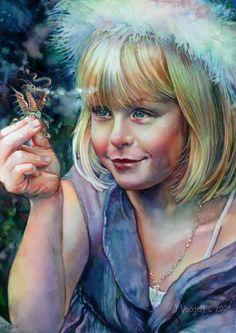 #legendaryinspirations girl with dragon - Jeanne Vodden