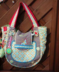 Nähoma moni: Tasche   Medium Beach Bag,ein Loop für mich und ei... Anleitung für Blümchen inklusive!