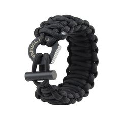 Adjustable Paracord Bracelet. This bracelet is great because it can fit both women and men. Easy to adjust!