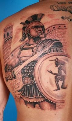 Put your game face on with our collection of 25 of the best #warrior #tattoos on the planet