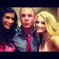 """Leeann Dearing with John Jay of 104.7's """"John Jay and Rich"""" and the gorgeous Brooke Villone of """"Baseball Wives""""!"""