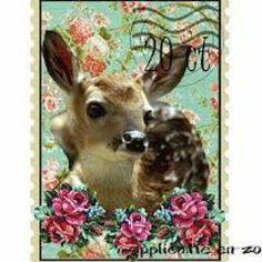 Post stamp deer