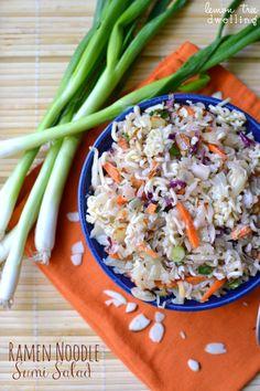 Ramen Noodle Sumi Salad - perfect for feeding a crowd!