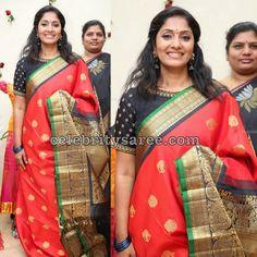 Jhansi Showcasing Red Bridal Saree