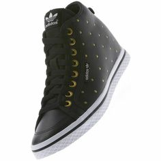 purchase cheap 95df0 c1c94 Tênis Honey Up Feminino, Black   Metallic Gold Adidas Tenis, Zapatillas,  Zapatos Up