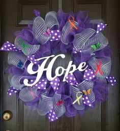 Mesh wreath to support Relay for Life