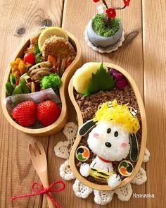 Instagram 上的 @hamama_126:「 . . こんにちは☺️ . . 今日は節分のお弁当💕 . スヌーピー鬼を作ってみました . 頭には錦糸卵のクルクルヘアー😉 . . 2枚目は長女に💕💕 喜んでくれてお母さん嬉しいよ😌 . . #キャラ弁#お弁当#クッキングラム#おうちごはんlover #節分#スヌーピー… 」 Bento Kids, Cute Bento Boxes, Japanese Food Art, Kawaii Bento, Bento Recipes, Home Food, Creative Food, I Foods, Asian Recipes