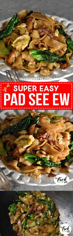 #Padseeew This Pad See Ew is ridiculously easy to make and the taste is like the popular street food in Thailand.
