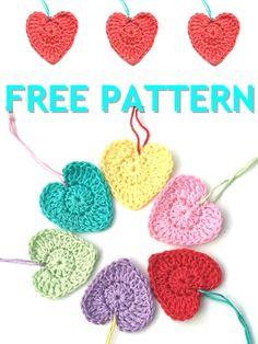 Crochet for Valentine's day – Atty*s. All Free Crochet, Cute Crochet, Knit Crochet, Half Double Crochet, Single Crochet, Valentine Heart, Valentine Gifts, Crochet Basics, Design Crafts