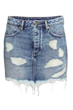 Falda corta desgastada   H&M