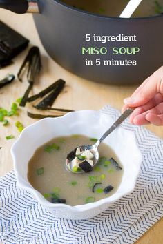 5 Ingredient Miso Soup Recipe in 5 Minutes! Healthy soup recipe.