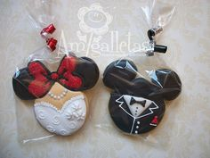 Favors--Mickey Mouse Wedding Cookies by Amigalletas on Etsy
