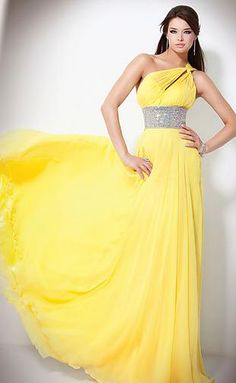 Embellished Daffodil Natural Sheath Long Asymmetric Evening Dresses In Stock momodresses25746