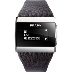 Prada Link-sleek luxurious Bluetooth digital watch found on Polyvore. ME LIKEY!!