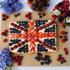 This Union Jack tray bake is delicious,  easy to make and contains one of your five-a-day!
