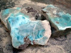 """Larimar - Known as """"The Caribbean Healer"""" Brings the tranquility of water and air to the heart and mind. Soothes & uplifts the hurt and fearful. Lifts depression and the pain of life changes in matters of love. Promotes self-expression, patience, and creativity. Uplifts the heart and eases stress. Builds confidence, reducing depression and promoting serenity by helping you to simplify your life. Draws out heat from sunburns, fevers and inflammation."""