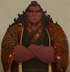 Home of Handsome Muscle Boys — Jin Toth, Fighter/Wizard Orc King for the AD&D Fantasy Races, High Fantasy, Fantasy Rpg, Medieval Fantasy, Fantasy Artwork, Fantasy Character Design, Character Design Inspiration, Character Concept, Character Art