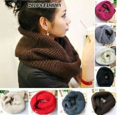 131ec7570d1 Men Neck Warmer Scarf Shawl Women Winter Knitting Wool Collar Scarves  WCA055  Unbranded  Scarf