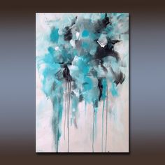Large Acrylic Abstract Painting Original Fine by LindaMillerArt, $195.00