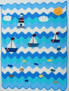 "Ravelry: Maryfairy's ""I am Sailing"" Baby Blanket"