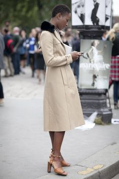 All you need are a great coat and cool shoes. Just ask Shala Monroque.