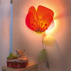 DECOILUZION - Lámpara infantil Flor de amapola