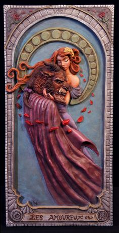 The Lovers Tarot Card 2: Beauty and the Beast by Kahiah.deviantart.com on @deviantART