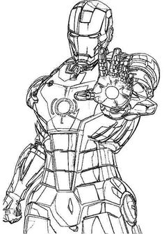 iron man suit coloring pages for kids   Iron man art ...