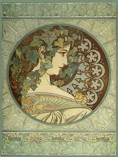 More Illustrations in GREEN: http://www.pinterest.com/oddsouldesigns/illustrate-the-rainbow-greens/ #art #nouveau
