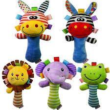 Take Baby Shoppee: Rattle Stick Toet Animal 5 motif