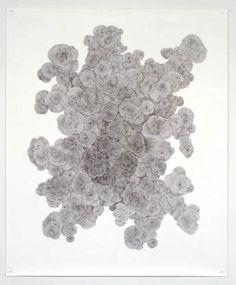 Tara Donovan Untitled, 2003 ballpoint pen on character char Tara Donovan, Contemporary Art Artists, Scribble Art, Sketchbook Inspiration, Outsider Art, Conceptual Art, Ballpoint Pen, White Art, Art Inspo
