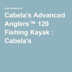 Kayaks and fishing on pinterest for Cabela s advanced angler 120 trolling motor