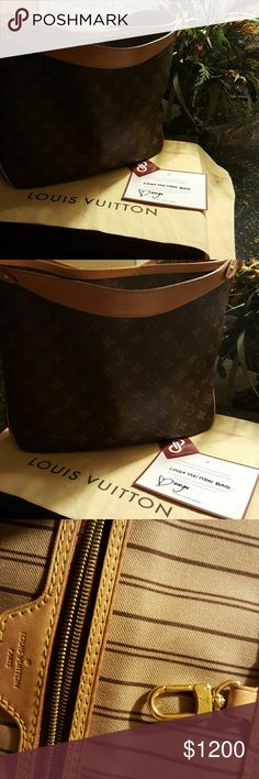 Louis Vuitton Delightful PM Bought this from another posh seller. It is a Beautiful Bag just was not what i was wanting.Bag in great shape small ink marks on the inside and Beautiful on the outside.If anyone need more pic's just let me know. I m open for trades. Louis Vuitton Bags Shoulder Bags