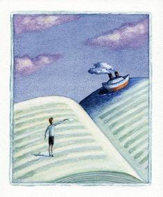 Lectura de aventuras o la aventura de leer (ilustración de Mariusz Stawarski)