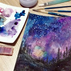 #watercolor #galaxy