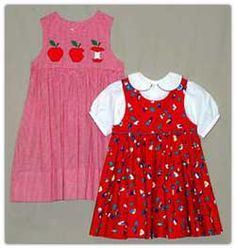 Selection of basic girls jumper and blouse patterns.
