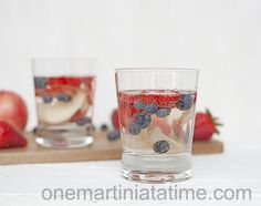 Red, White and Blue Sangria for the 4th of July
