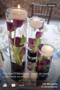 Tulipanes: como centró de mesa, quedas súper !