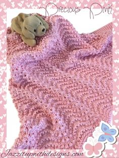 Pink Baby Receiving Blanket will make the perfect Baby Shower Gift! Hand knit beautiful and soft baby blanket in rich pink perfect for a new little girl.