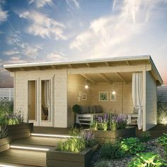 Monreal 19 x 10 Ft. Tongue and Groove Summer House Sol 72 Outdoor