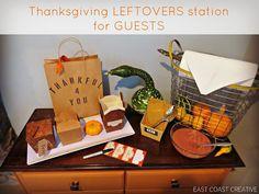 Thanksgiving Leftovers Station - East Coast Creative Blog