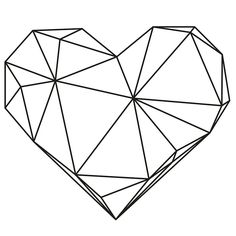Geometric Heart Black Frame