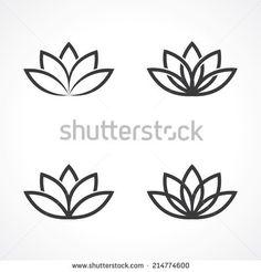 abstract lotus symbols. vector eps8