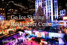 I watched people ice skating there, but did not have the time to wait to do it too! Need to go back to NYC asap!