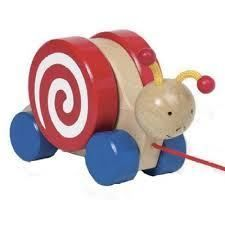 Wooden Toys Educational Toy Childrens Toys Children's Toy Shop - Goki Wooden Pull Along Snail
